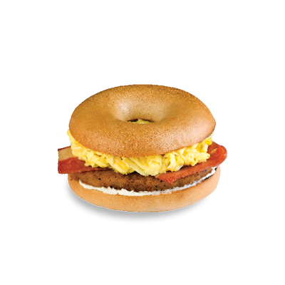 Sausage Bacon & Egg Bagel